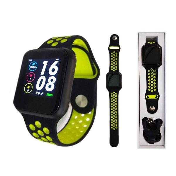 Smartwatch F8 Pedômetro Distância Passos Calorias Frequência Cardíaca Pressão Arterial Relógio Inteligente Bluetooth Fitness Corrida Academia Saúde IP67