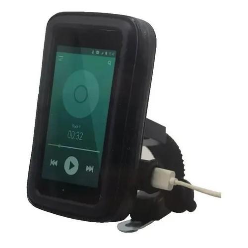 Suporte com Case e USB para Motos e Bicicletas