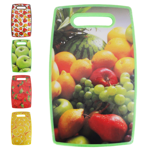 Tábua de Carne Plástico Estampas Sortida 22,5x36cm