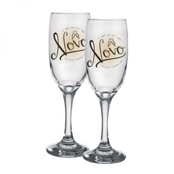 2 Taça de Champagne – Ano Novo