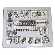 Kit Quebra Cabeça Metal Enigma 16 pçs