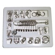 Kit 16 Quebra Cabeça Metal Enigma