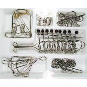 Kit 6 Quebra Cabeça Metal Grande Enigmáticos