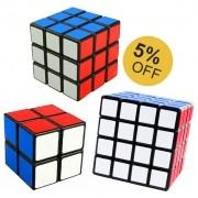 Kit Cubo Mágico 2x2 3x3 4x4