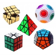 Kit Cubo Mágico Mix Com 5 Cubos