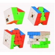 Kit Cubo Mágico Moyu 2x2 3x3 4x4 5x5