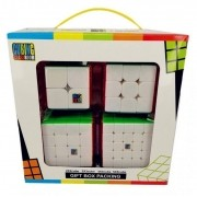 Kit Cubo Moyu 2x2 3x3 4x4 5x5 Colorido