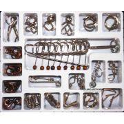 Kit Quebra Cabeça Metal Enigma 20 pçs