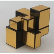 Mirror Blocks 2x2x2 Preto Dourado Shengshou