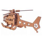 Quebra Cabeça 3d Madeira Mdf Helicóptero