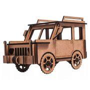 Quebra Cabeça 3d Madeira Mdf Carro Jeep