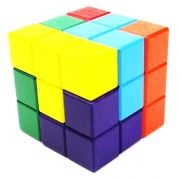Quebra Cabeça em Madeira Tetris Cubo