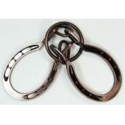 Quebra Cabeça Metal Ferradura 3d Bronze