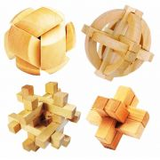 Kit 4 Quebra Cabeça Puzzle Madeira Mod.3