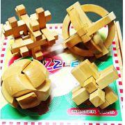 Kit 4 Quebra Cabeça Puzzle Madeira