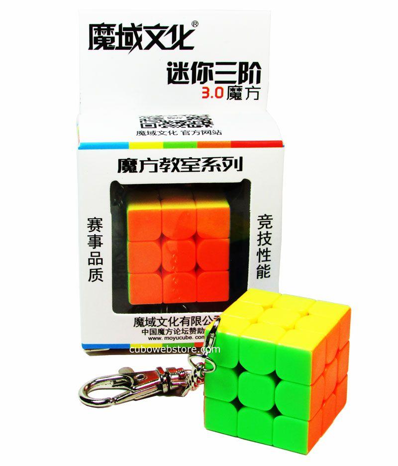 Chaveiro Cubo Mágico 3x3x3 Moyu 3cm