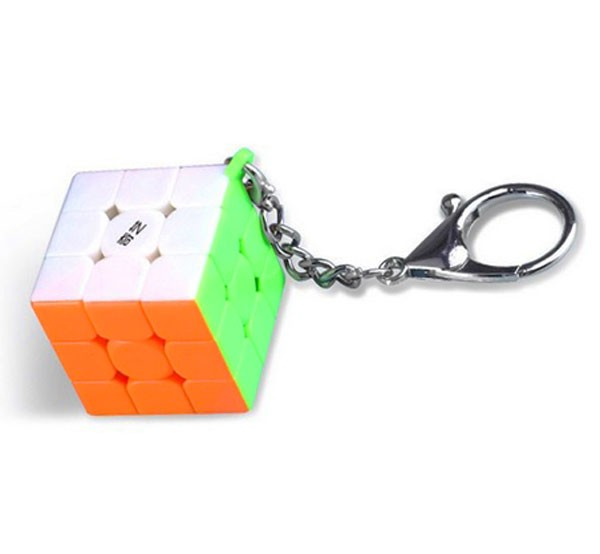 Chaveiro Cubo Mágico 3x3x3 Qiyi 3cm