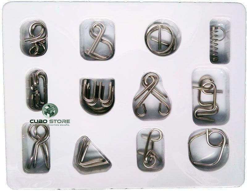 Kit Quebra Cabeça Metal Enigma 12 pç