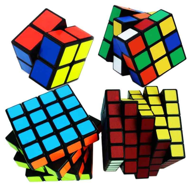 Kit Cubo Mágico 2x2 3x3 4x4 5x5