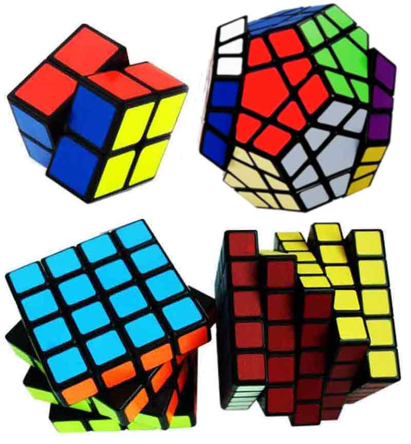 Kit Cubo Mágico 2x2 4x4 5x5 Megaminx