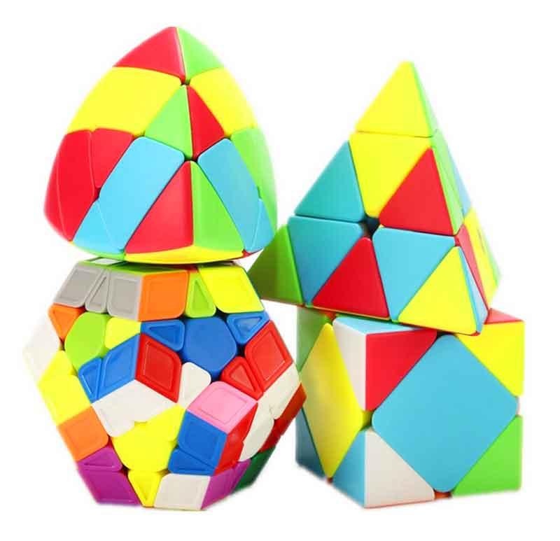 Kit Cubo Qiyi Megaminx Skewb Pyraminx Mastermorphix