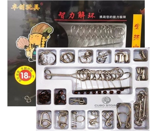 Kit Quebra Cabeça Metal Enigma 18 pçs