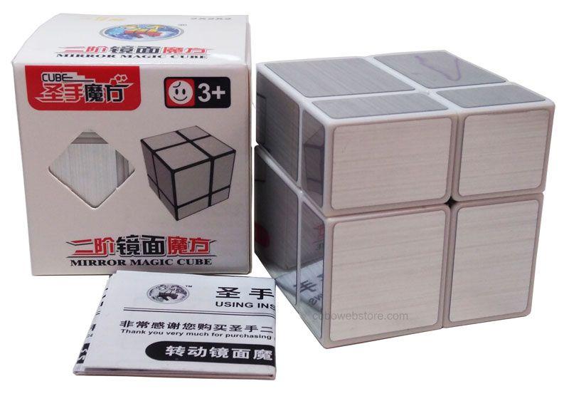 Mirror Blocks 2x2x2 Branco Prata Shengshou