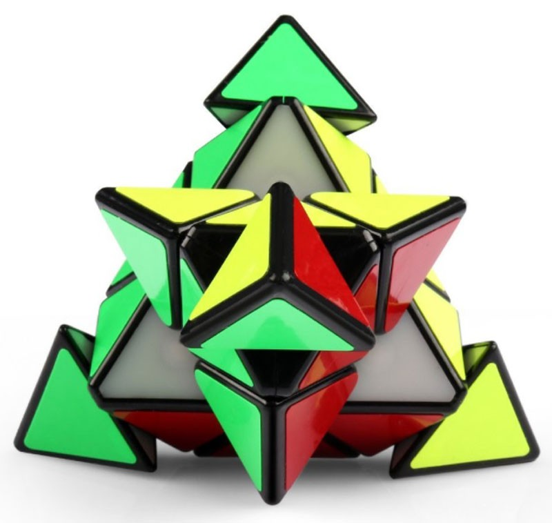 Pyraminx V2 Moyu Magnético Preto