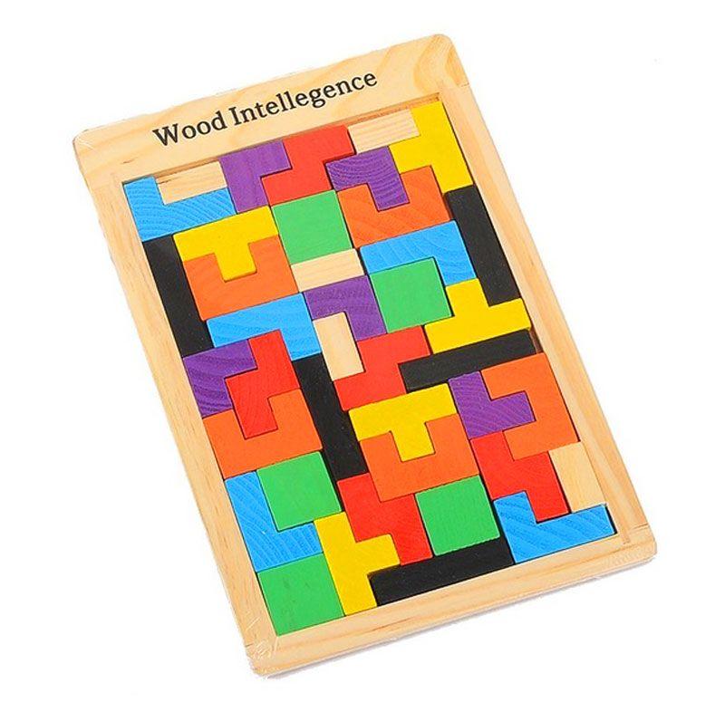 Quebra Cabeça de Madeira Tetris