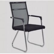 Cadeira Fixa Interlocutor Telada Preta