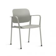 Cadeira Fixa Leaf com Braço Cinza