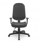 Cadeira Giratoria Presidente Operativa Plus Back System com Braço CE Preto