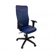 Cadeira Presidente Netuno Tela com Braço Regulável Azul