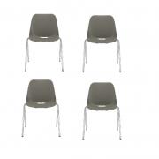 Kit 4 Cadeira Fixa Quick Bassalto