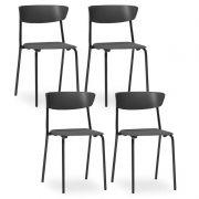Kit 4 Cadeiras Fixa Bit