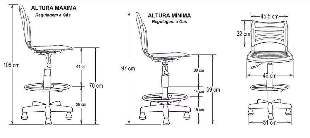 Cadeira Caixa Ergoplax