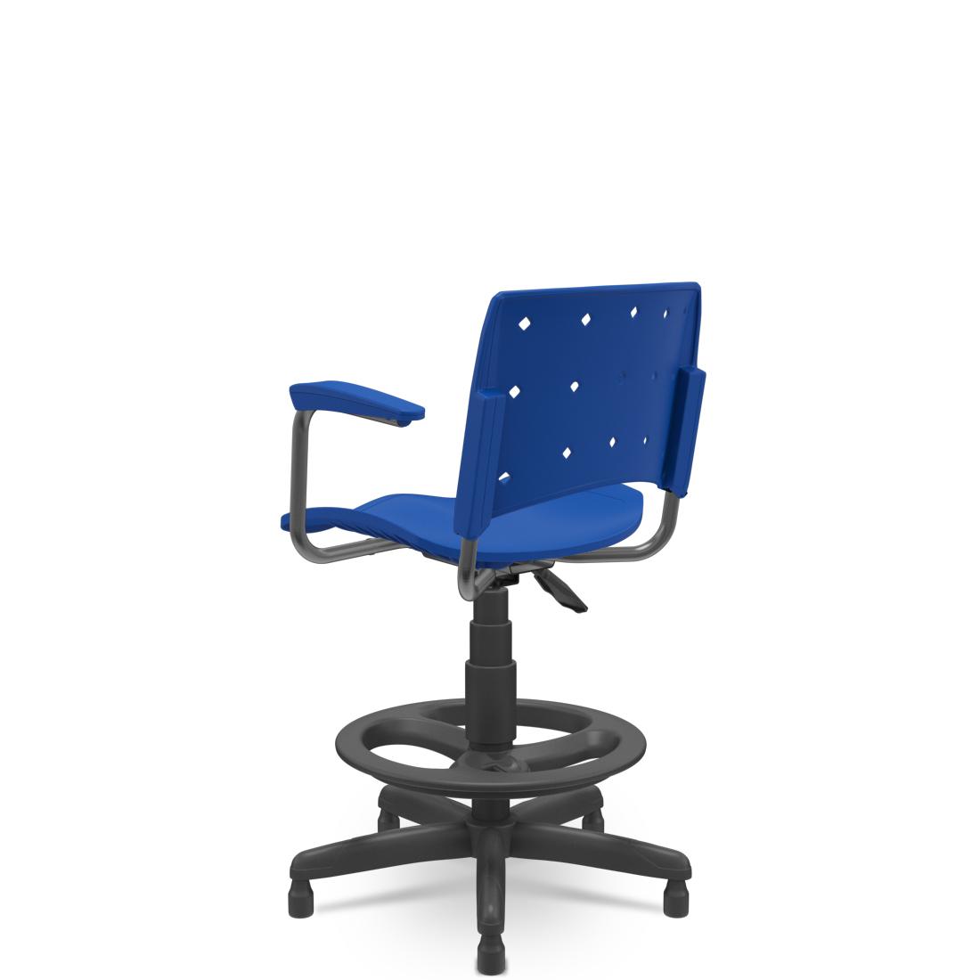 Cadeira Caixa Ergoplax+ com Braço Azul