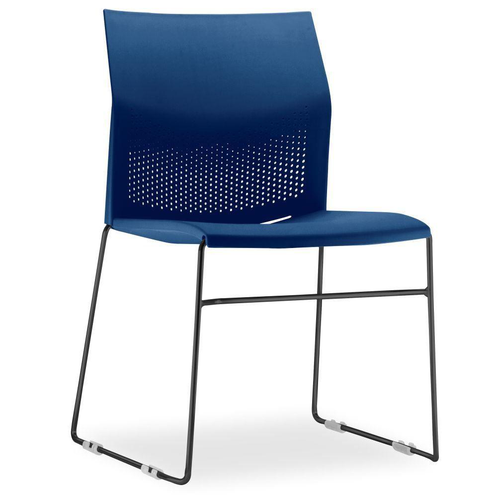 Cadeira Connect Azul com base Preta