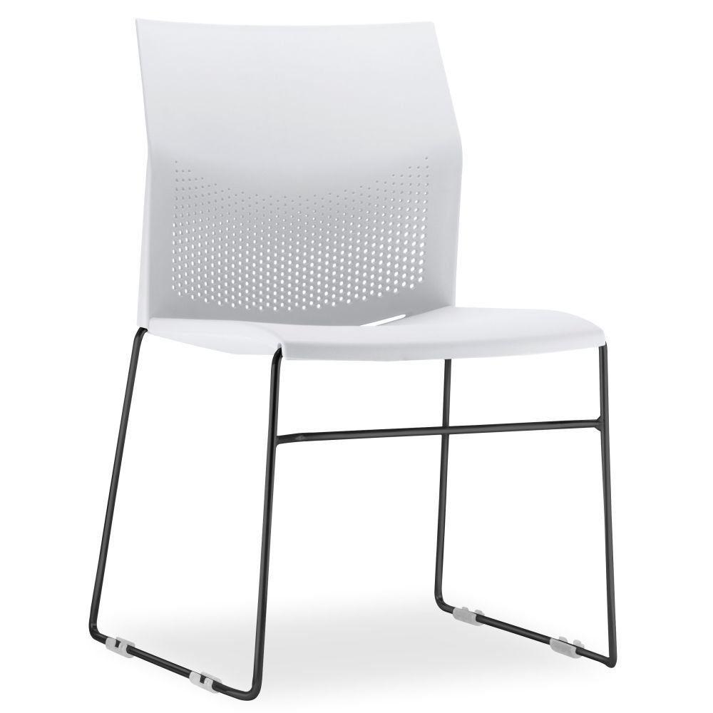 Cadeira Connect Branco com base Preta
