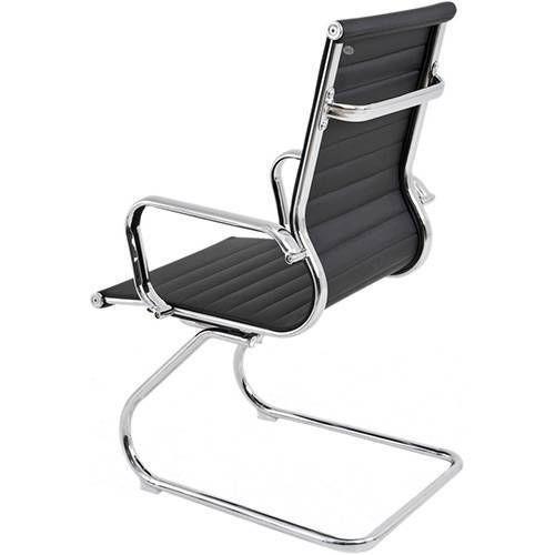 Cadeira Fixa Diretor Charles Eames Preta