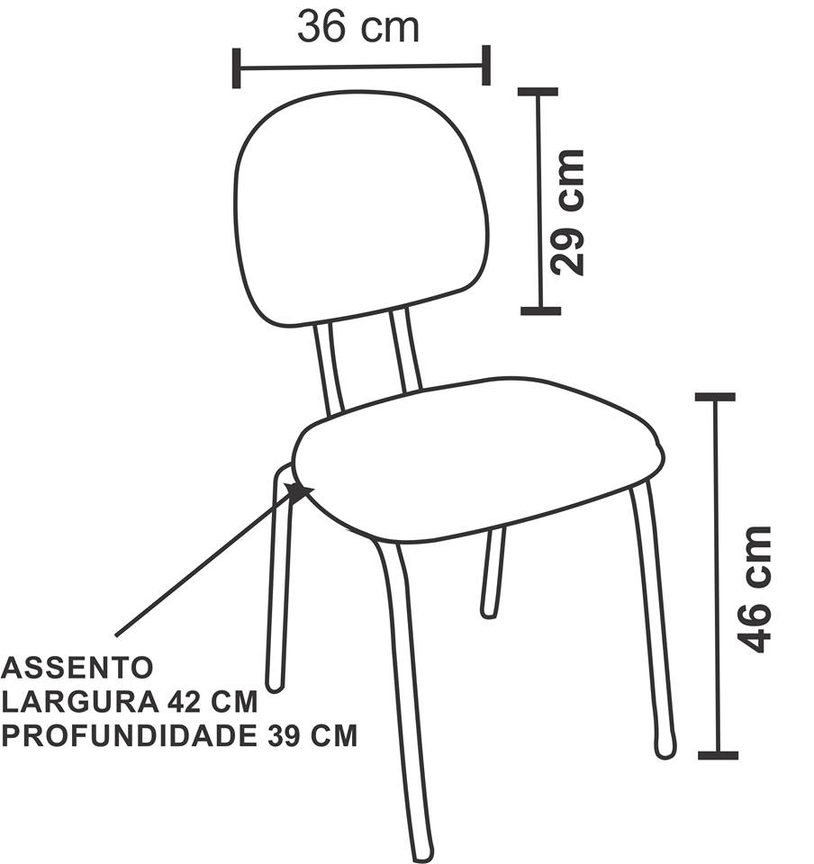 Cadeira Fixa Secretaria Polo