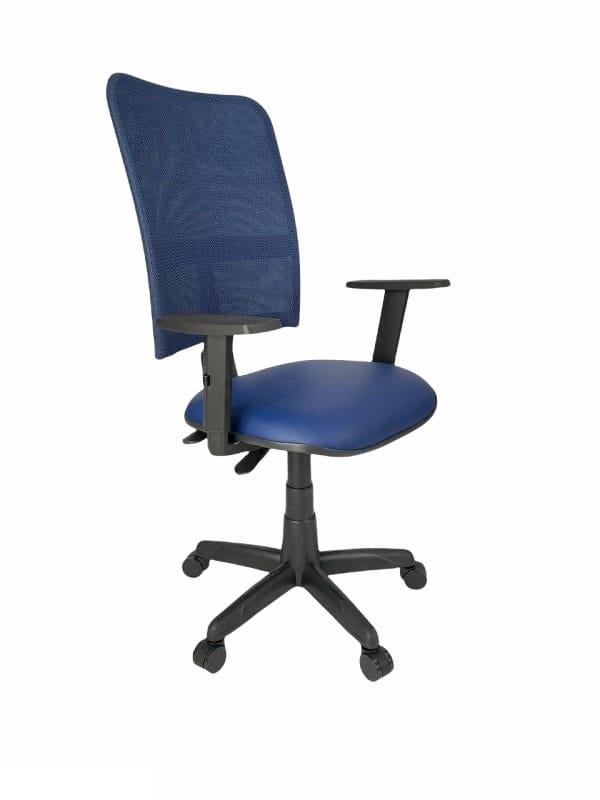 Cadeira Gerente Jupter Tela Back System com Braço Regulável Azul