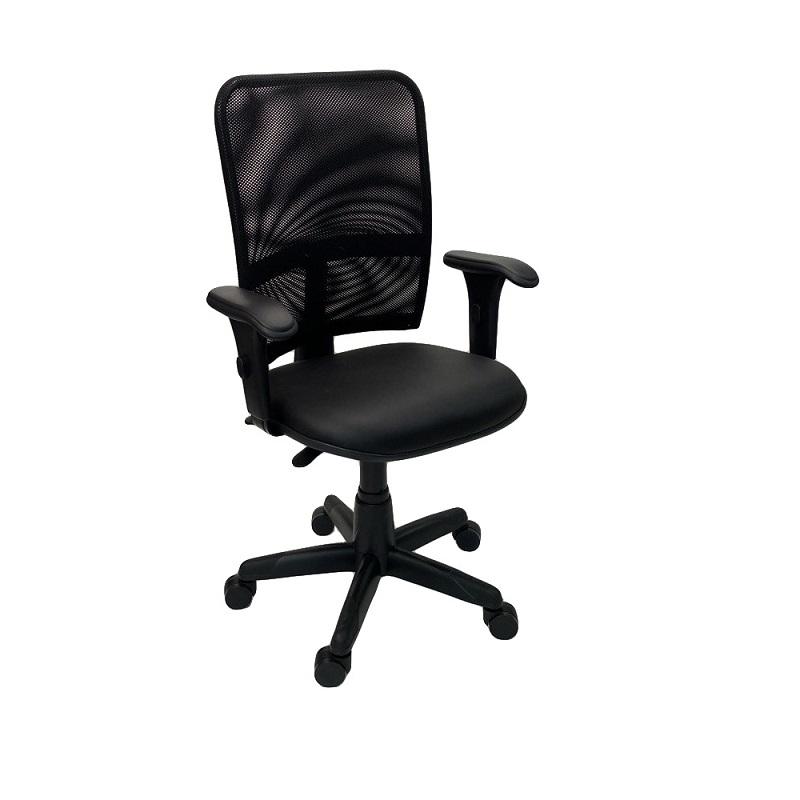 Cadeira Gerente Jupter Tela Back System com Braço Regulável Preto