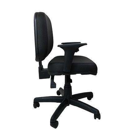 Cadeira Giratoria Diretor Operativa Plus Back System com Braço Corino Preto
