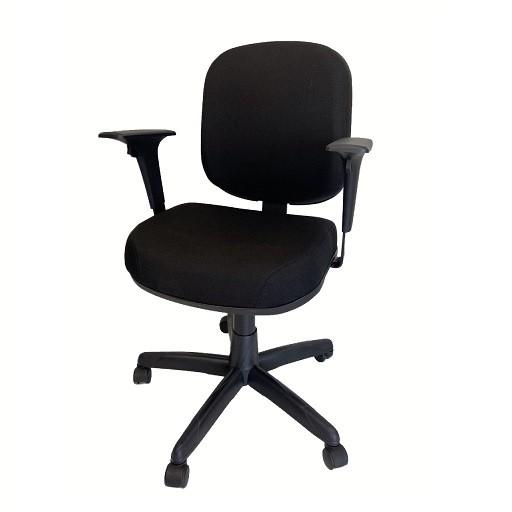 Cadeira Giratoria Diretor Operativa Plus Back System com Braço Tecido Preto