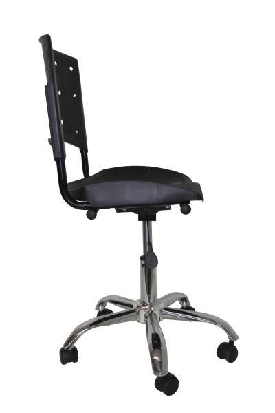 Cadeira Giratoria Ergoplax Secretaria Cromada