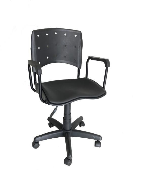 Cadeira Giratoria Ergoplax Secretaria Estofada com Braco