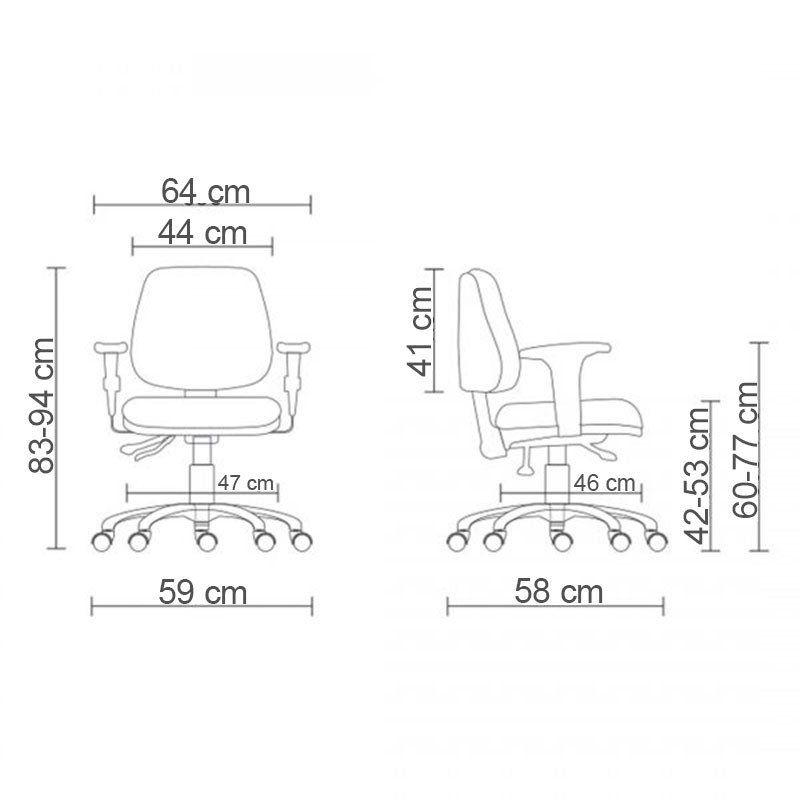 Cadeira Giratoria Executiva JOB Back System com Braço
