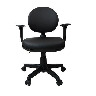 Cadeira Giratoria Executiva Operativa Plus Back System com Braço Corino Preto