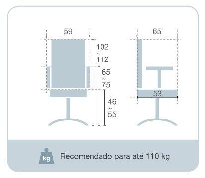 Cadeira Giratória Presidente Cromada
